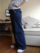 maternity sailor trousers belly view