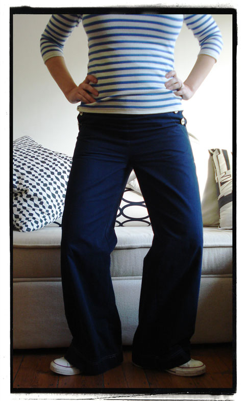 maternity sailor trousers