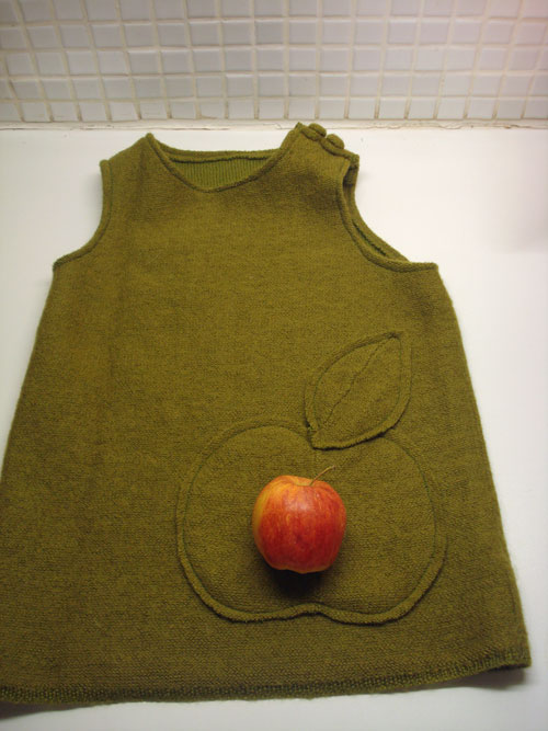 Apple dress finished